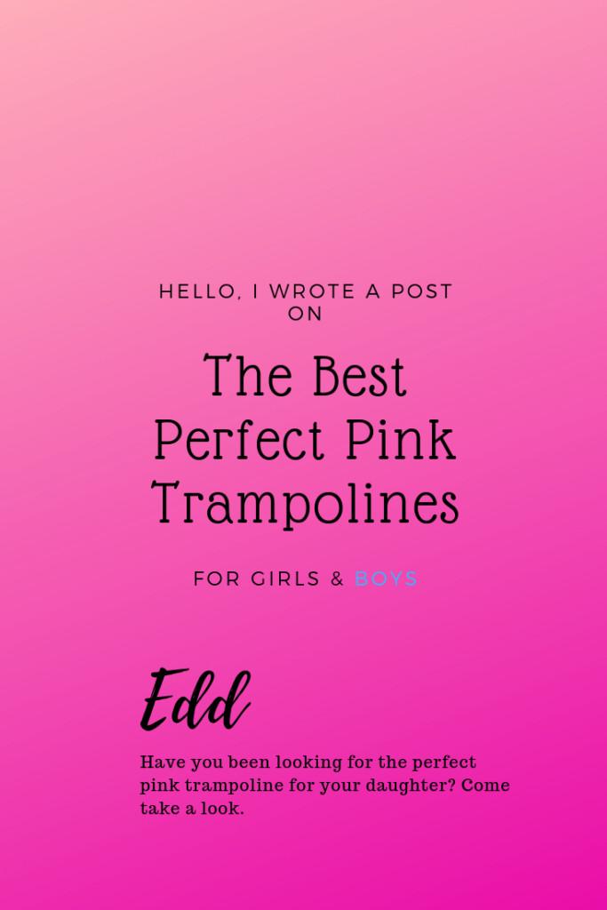 pink trampoline for kids