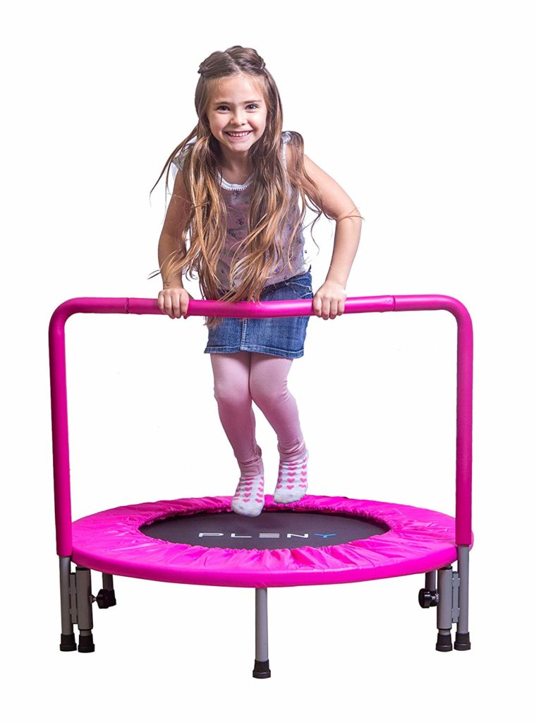toddler pink mini trampoline