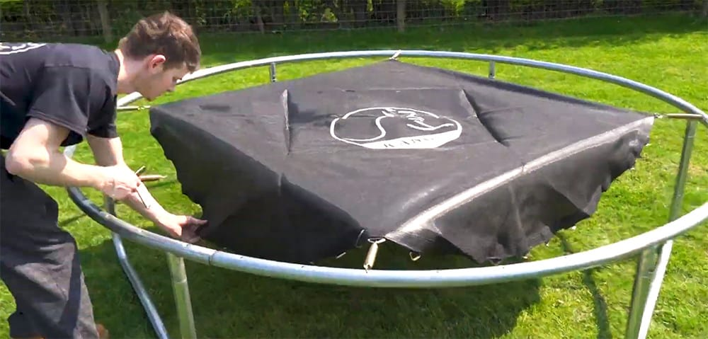 add trampoline springs to the trampoline